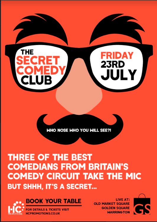 The Secret Comedy Club – 23rd July 2021 – SOLD OUT
