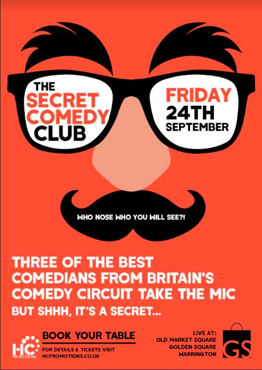 The Secret Comedy Club – 24th September 2021